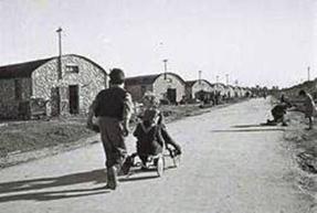 הרחוב הראשי במעברת מחנה ישראל