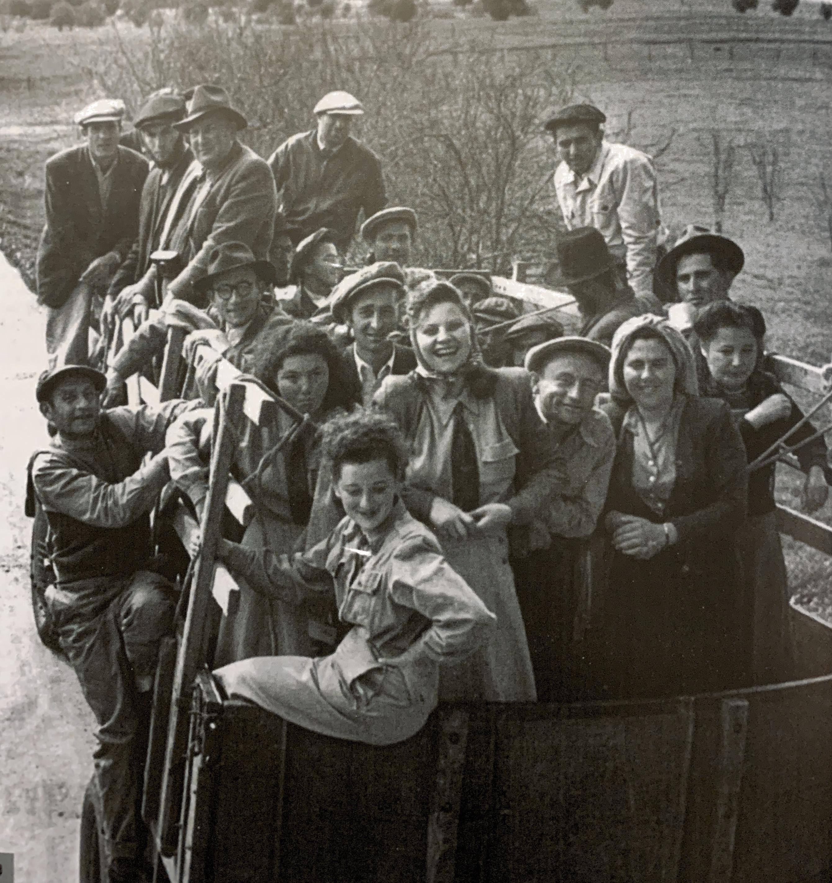 עליה להתיישבות בגימזו פברואר 1950