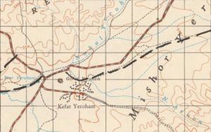 """כפר ירוחם, אוסף המפות ע""""ש ערן לאור"""